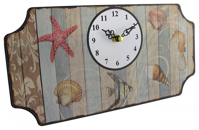 Beach Themed Metal Wall Clock Plaque - Contemporary - Wall Clocks ...