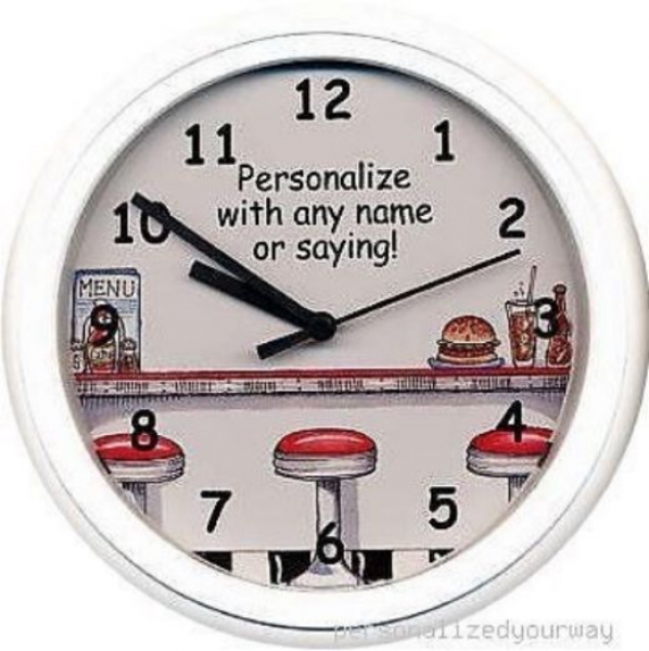 Diner Restaurant Retro Personalized Wall Clock Cafe | eBay