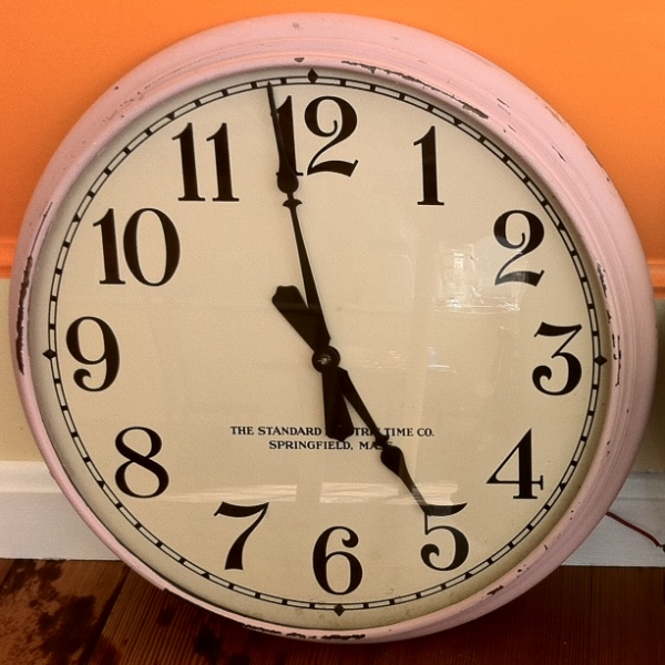 First One Is A 1930's School Wall Clock Made By Standard Electric Time ...