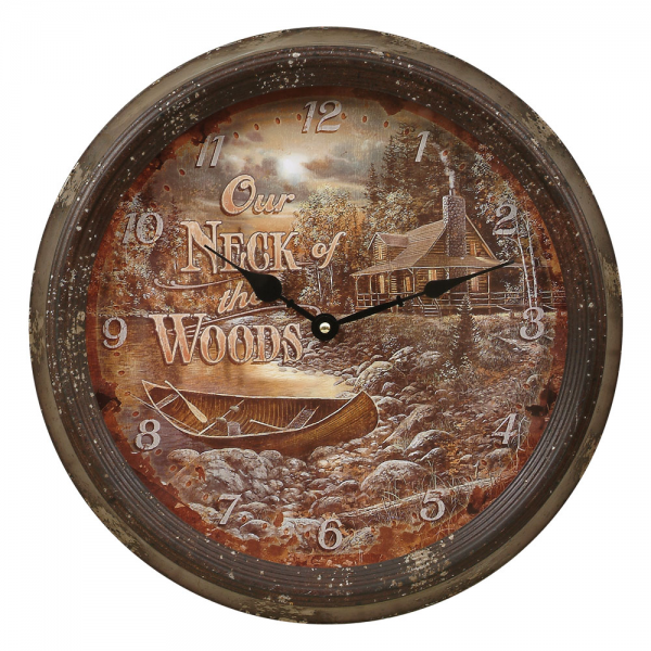 Lake Cabin Wall Clock - CLEARANCE