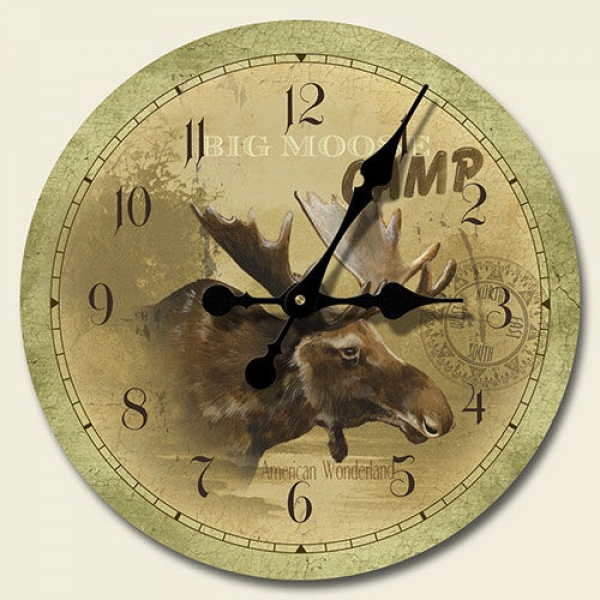 Mountain Lodge Moose Wall Clock $19.99 | Cabin Decor | Pinterest