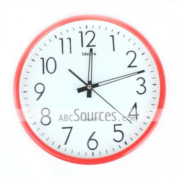 China Wholesale DecoMates Non-Ticking Silent Wall Clock Black;Red