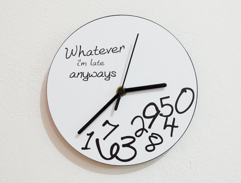 Whatever I'm late anyways Wall Clock by inPhoenixArt on Etsy