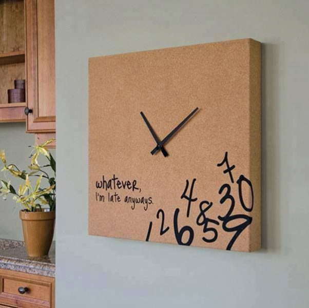 Clock- I'm late anyway. | My sweet one day pad | Pinterest