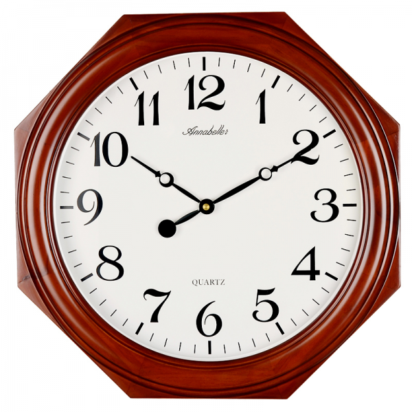 Annabel new tuba mute wood octagonal wooden wall clock for home ...