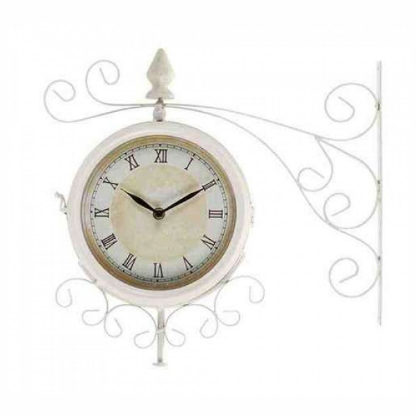 Metal Outdoor Double Clock With Easy To Mount Wall Bracket - Join the ...