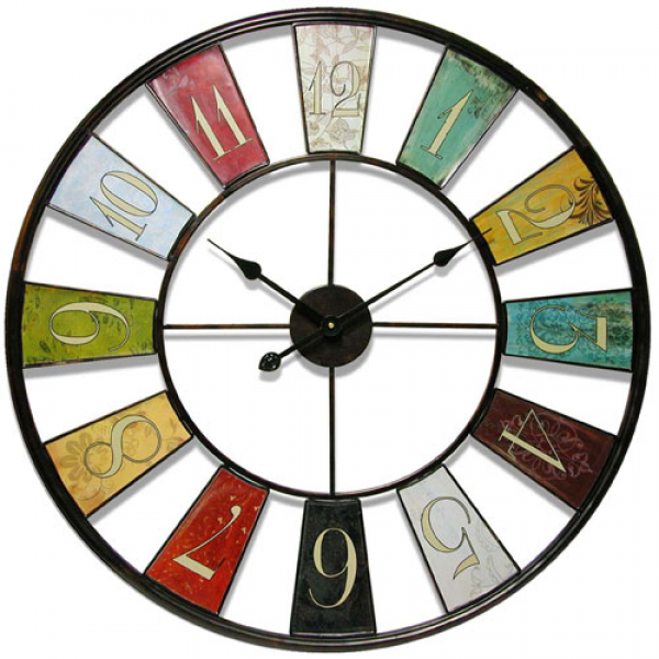 Kaleidoscope Wall Clock Infinity Instruments Wall Mounted Clock Clocks ...
