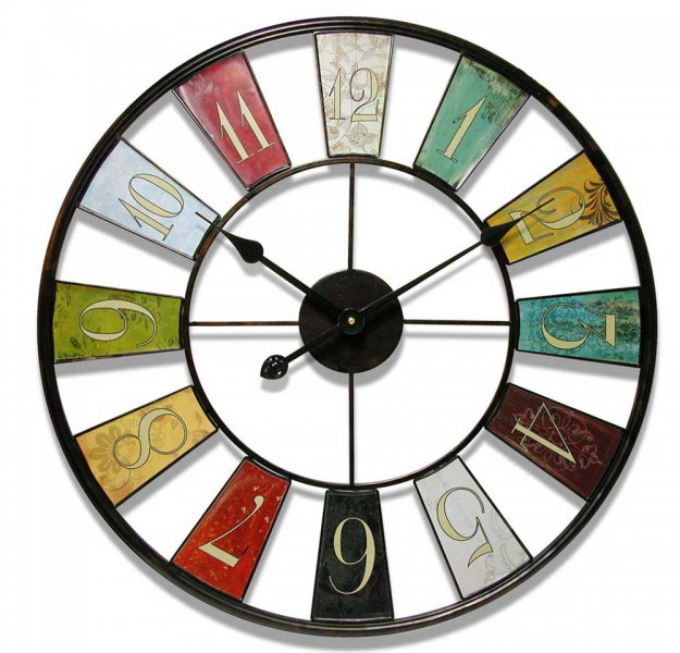 Kaleidoscope Wall Clock 24 - Metal Wall Clocks