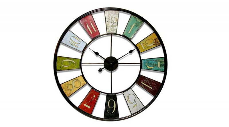 Outdoor Indoor Kaleidoscope Big 32-inch Metal Wall Clock by Infinity ...