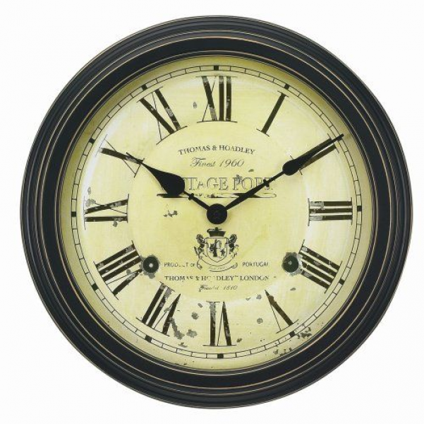 Chaney Instruments 18-Inch Vintage Port Wine Wall Clock Chaney ...