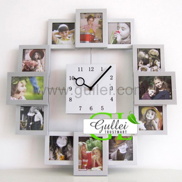 Unique Photo frame Wall Clock Christmas Gift Personalized Couples ...