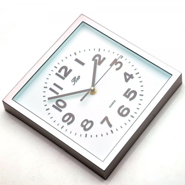 ... Non Ticking Silent Quartz Analog Digital Square Wall Clock | eBay