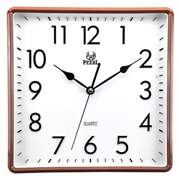 ... Modern Non Ticking Silent Quartz Analog Digital Square Wall Clock