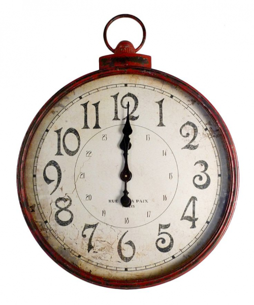 ... great find on #zulily! Red Vintage Wall Clock by Wilco #zulilyfinds