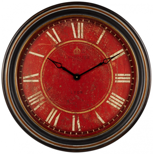 Uttermost Chevalier 27 1/2 Wide Antique Red Wall Clock - Style ...