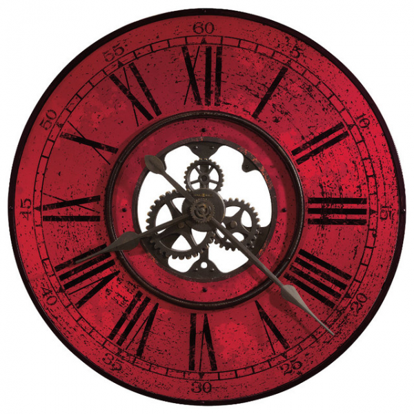 ... Contemporary 32 Oversized Wall Clock in Red contemporary-wall-clocks