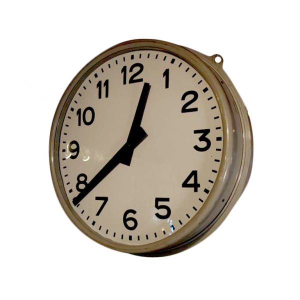 Double Sided Hanging Train Station Clock at 1stdibs