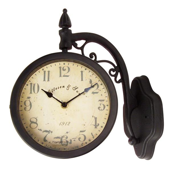 Craftmade Double Face Indoor/Outdoor Station Wall Clock W-TH031-05 ...