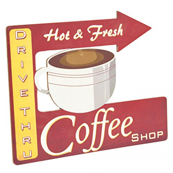 ... Wall Decor Clock Customized Cafe Cup Coffee Hot...: Decorative Wall