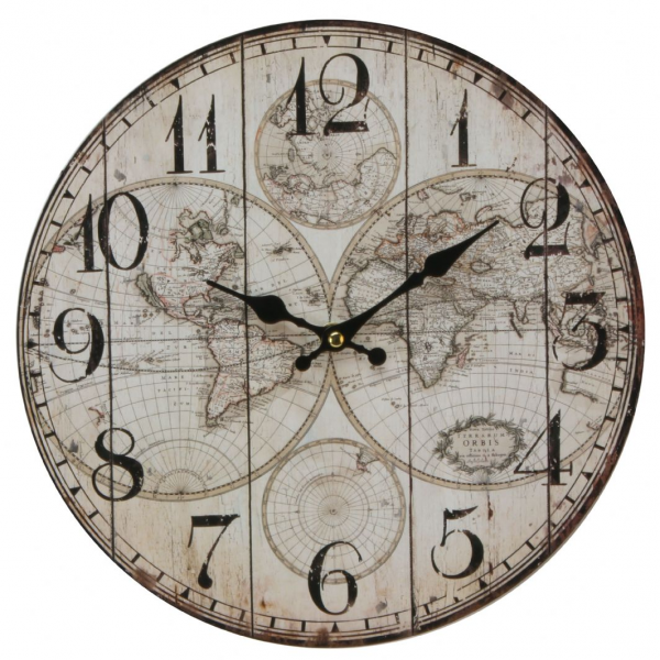 Modern World Map Design Wall Clock - Contemporary Design