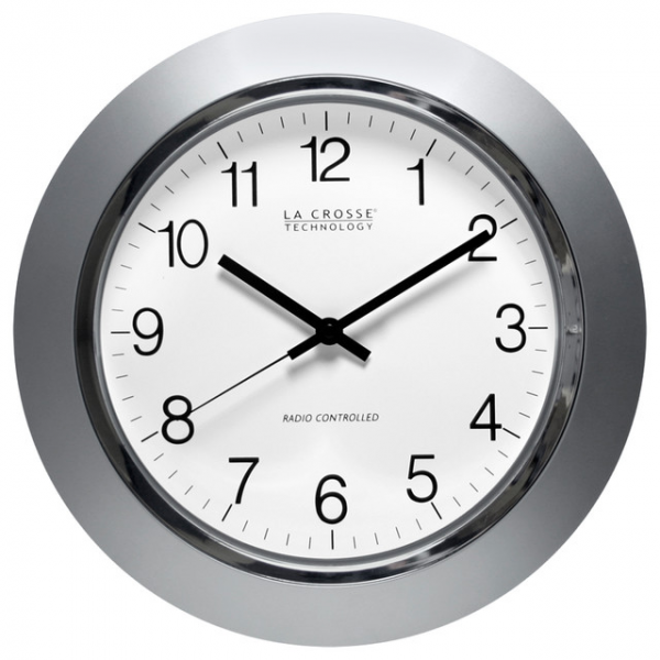14-Inch Atomic Analog Clock - Contemporary - Clocks - by Overstock.com