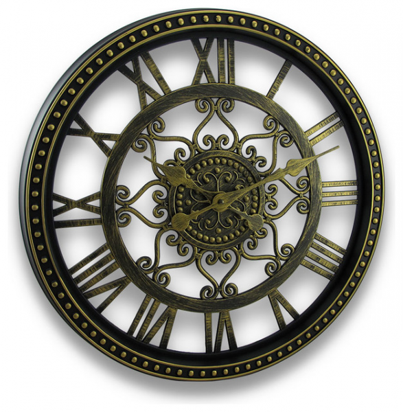 ... Out Scroll Design Wall Clock 19 In. - Traditional - Clocks - by Zeckos