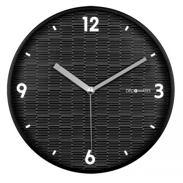 decomates non ticking silent wall clock black eclectic decomates