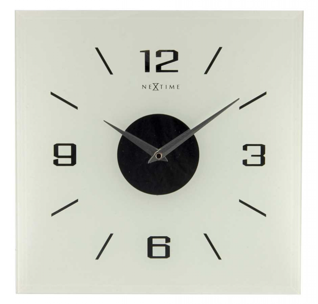 Nextime Simple Times Willie Square Frosted Wall Clock 2667fr ...