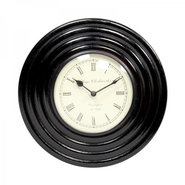 Home Page HOME DECORATIVES Wall Clocks Wooden Black Wall Clock
