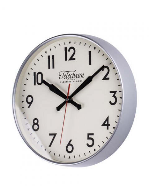 FAMOUS MAKER Silver-Tone Corby Wall Clock | Shop Home Essentials and ...