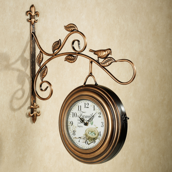 Home > Kenway Two Sided Hanging Metal Wall Clock