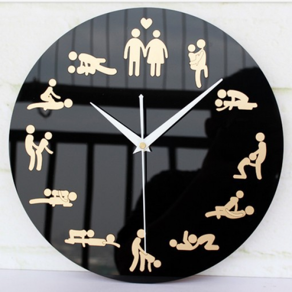 Innovation Household Living Room Sex Culture Wall Clocks Unique ...