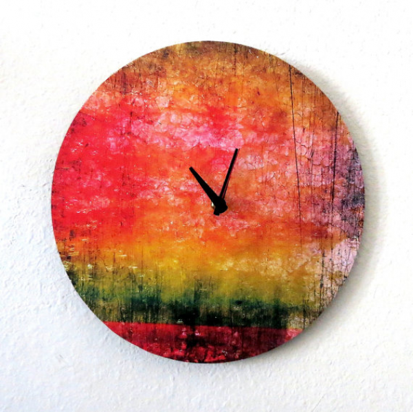 Unique Wall Clock, Home and Living, Decor & Housewares, Rainbow Clock ...