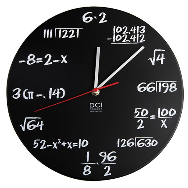 Home > Gift Ideas by categories > Clocks > Pop quiz wall clock