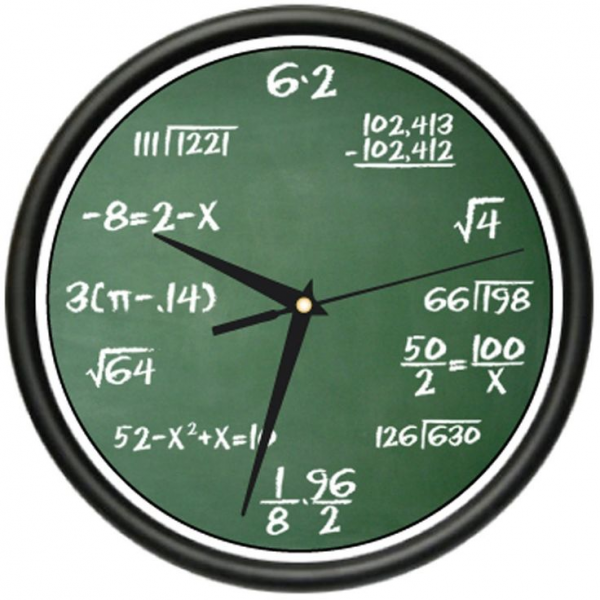 Math Wall Clock. I am going to have the students make their own clock ...