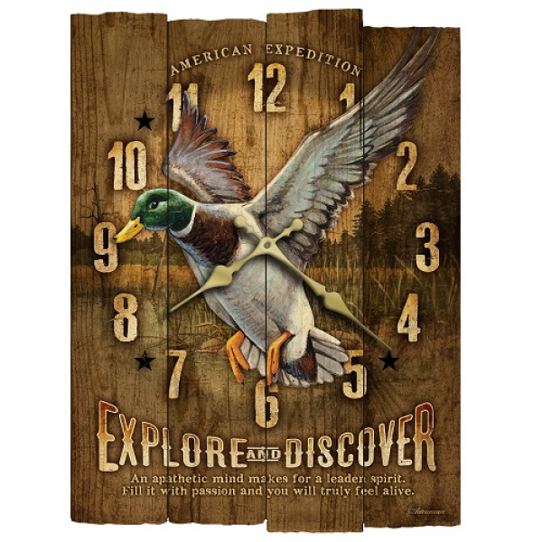 American Expedition WCBK 119 Mallard Wooden Wall Clock | eBay