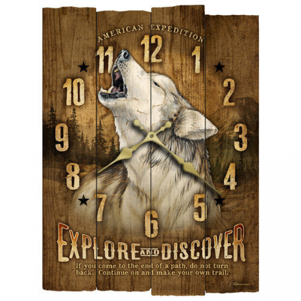 American Expedition Wooden Wall Clock - Walmart.com