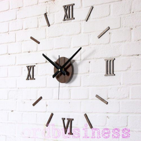 DIY Wall Clock Roman Stickers Clocks Modern Design Art Watch Unique ...