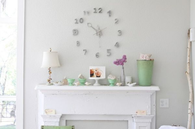Home Decorations with Wall Clock: Stunning Frameless Wall Clocks ...