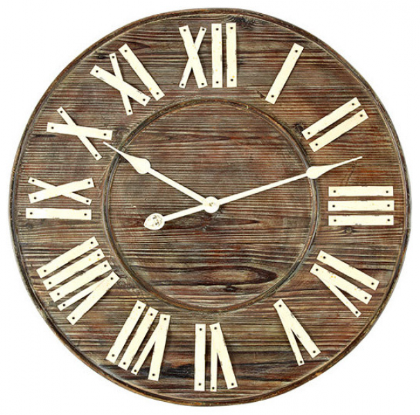Distressed European Wall Clock - Traditional - Clocks - by Wisteria