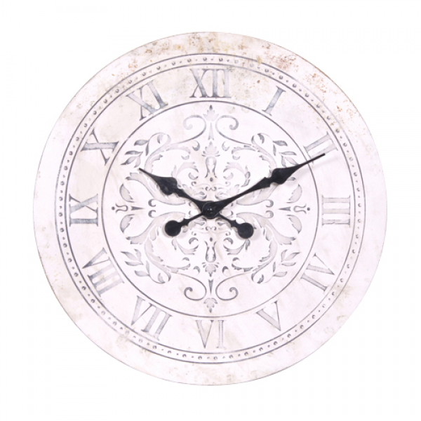 Maple White Distressed Wall Clock - No1 Online Shabby Chic Furniture ...