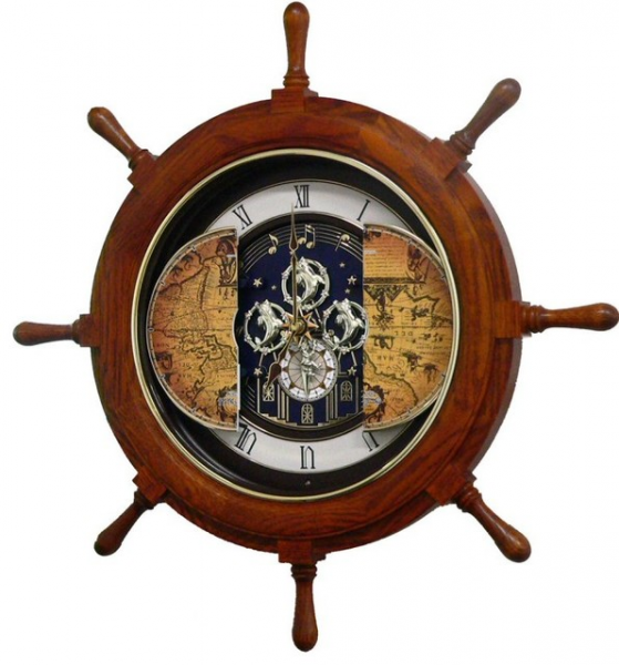 25 Voyager Classic Musical Wall Clock Oak - Traditional - Wall Clocks ...