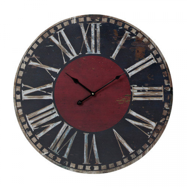 Sterling Industries 118-038 23.6 Height Black And Red Printed Clock ...