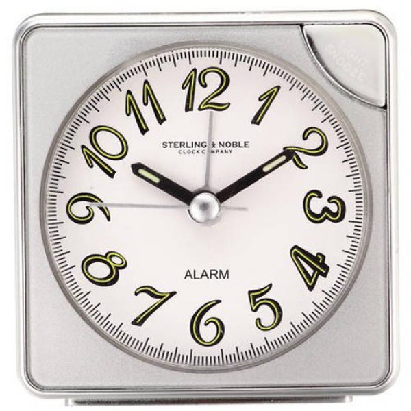 Sterling and Noble Analog Square Alarm Clock - Walmart.com