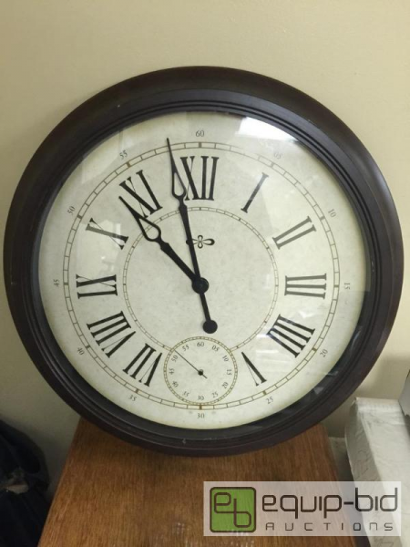 ... inch wall clock with second hand... | Raytown Auction #31 | Equip-Bid