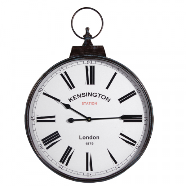 station wall clock large our price 39 00 description kensington wall ...