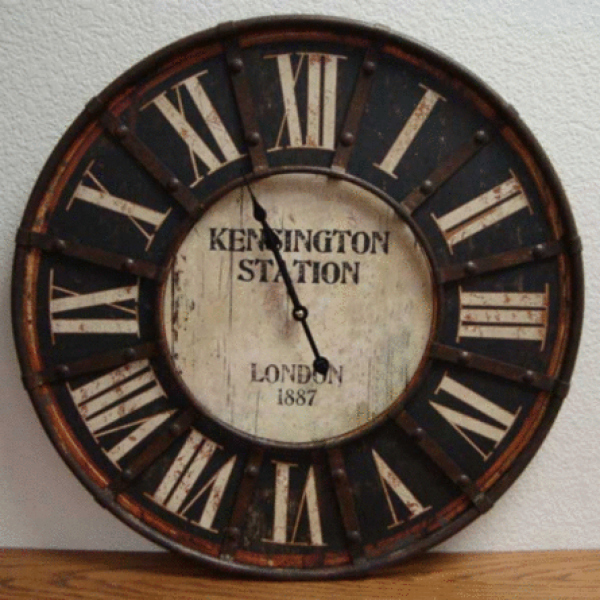 London Antique Style Inspired Kensington Station Wall Clock