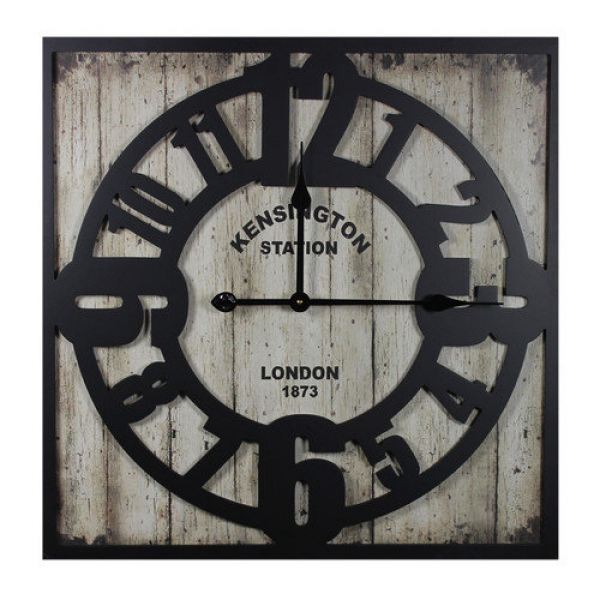 Entrada Kensington Station Metal Wall Clock - Walmart.com