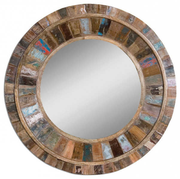 Uttermost Jeremiah, 32 Round Decorative Mirror contemporary-wall ...