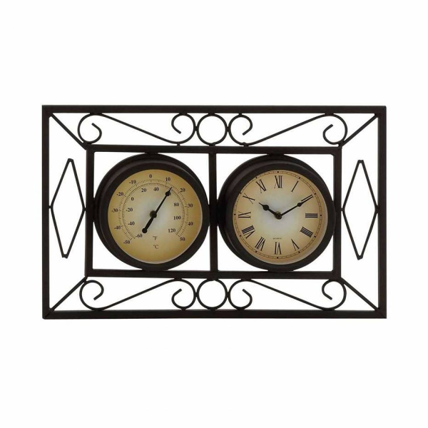 ... Attractive Unique Styled Metal Wall Clock - 35435 - Pricefalls.com